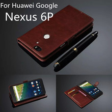 Fundas Nexus 6P card holder cover case for Huawei Google Nexus 6P leather phone case ultra thin wallet flip cover Free shipping