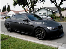 Black Matte Vinyl Wrap with Air Bubble Free Satin Matt Black Foil Car Wrap Film Vehicle Sticker Like 3m 1.52x30m/Roll