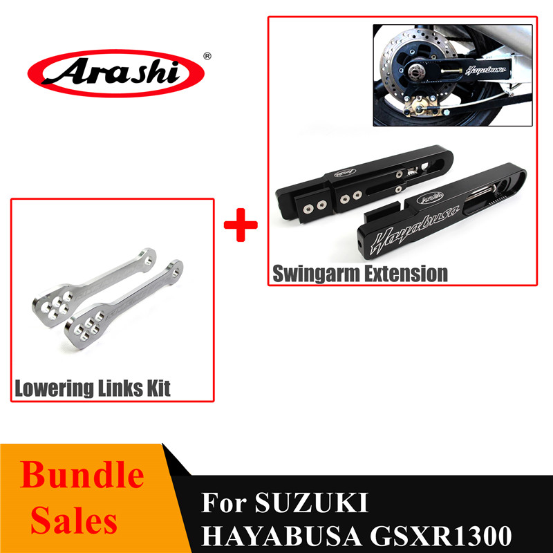 Arashi Adjustable Rear Shock Lowering Links Kit for Suzuki GSXR 1300 1999-2017 Motorcycle Accessories GSX-R GSX R GSXR1300 GSX1300R HAYABUSA Black 2008 2009 2010 2011 2012 2013 2014 2015 2016