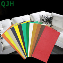 QJH 10x20cm Self Adhesive Stick-on No Ironing Sofa Repairing Leather PU Fabric Stickers Patches Scrapbook Fabric badges(China)