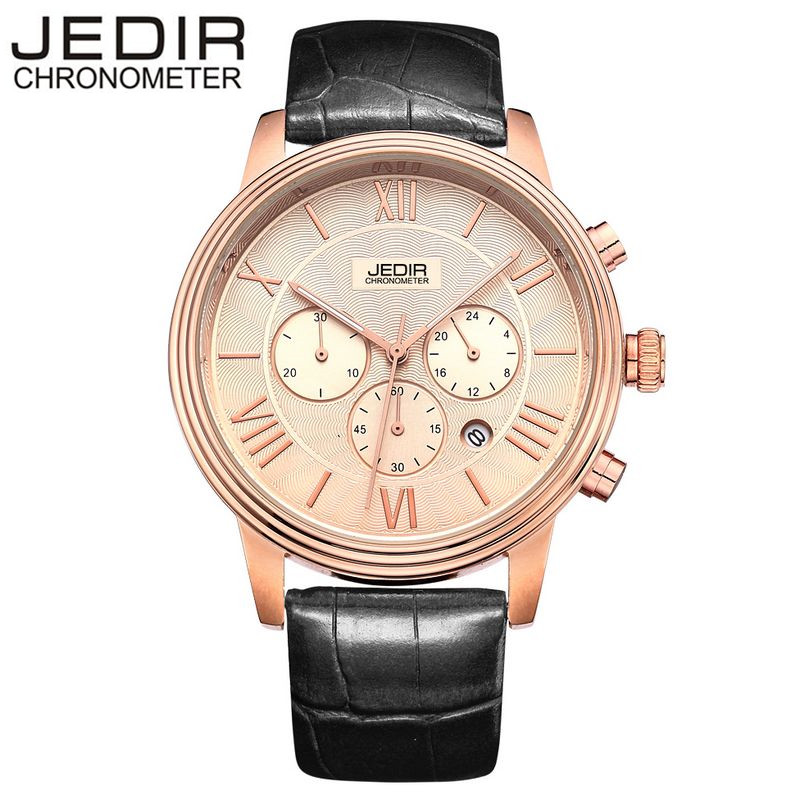 JEDIR Classic Mens Watches Day Stop Watch Male Quartz-watch Wrist Watch Montre Homme Gift Box Free Ship<br><br>Aliexpress