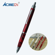 ACMECN Press Button Ball Pen Barrel Novelty Design Red and White Metal Slim Pen for Lady's Gifts Propellin Acrylic Ball Pen(China)
