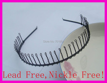 10PCS Black Plain Metal Comb Hair Headbands with 38teeth teeth at nickle free and lead free Handmade women hair jewelry