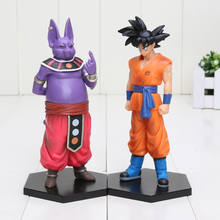 2pcs/set Cartoon Dragon Ball Z Champa SON GOKU cool PVC Action Figure Doll Model Toy