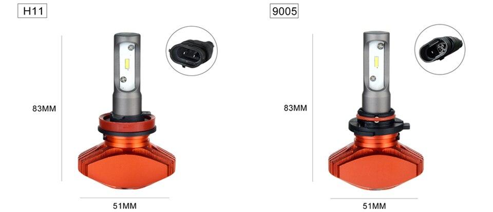 Zdatt AcooSun H4 H7 Led Car Bulb H11 H1 CSP LED Auto Headlight 80W 8000LMSet 9005HB3 9006HB4 H3K Led Fog Light White 6000K 12V 24V (10)