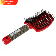 Abody Hair Scalp Massage Comb Hairbrush Bristle&Nylon Women Wet Curly Detangle Hair Brush for Salon Hairdressing Styling Tools
