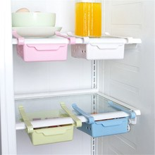 Storage Box Refrigerator Creatives Fresh Spacer Layer Storage Rack Pull-out Office Drawer Spacer Sort Kitchen Tool 12.3*15.5cm