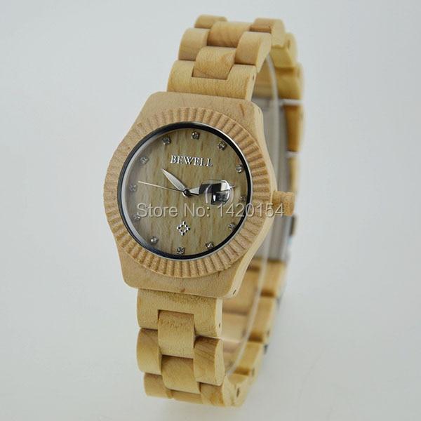 2017 Women Watches Maple Bewell Wood Watch Diamond Wooden Watch Women<br>