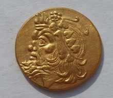 G(07)PANTIKAPAION in BOSPORUS 340BC Certified AU Ancient GOLD Greek Coin RARE(China)