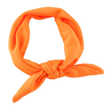 Fashion Kids Girls Rabbit Bow Ear Hairband candy color cute Headband Turban Knot Head Wraps hair accessories(China)