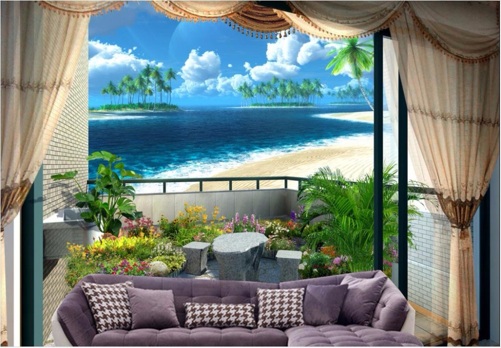 customized  3 d photo wallpaper Space backdrop beautiful beach 3d landscape wallpaper backdrop wallpapers for living room<br><br>Aliexpress