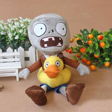 Hot Selling 30CM 12'' Plant Vs Zombies Duck Zombie Plush Toys Doll,1pcs/pack(China)