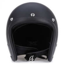 Motorcycle Retro Safety Helmet Open Face Retro Style Unisex Detachable Half Helmet Safety Safe Crash Helmet ABS Shell(China)