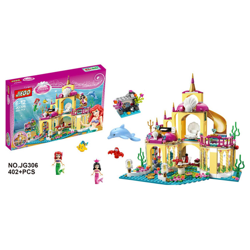 SY374 JG306 400Pcs Princess Undersea Palace Model Building Kits Blocks Bricks Girl Toy Gift  Lepin Kaizi Bela Sluban Decool<br><br>Aliexpress