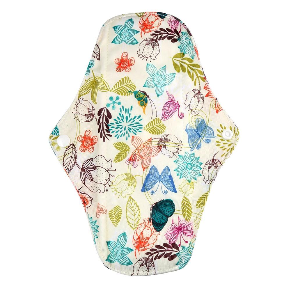 1pc New Arrival Women's Reusable Bamboo Cloth Washable Menstrual Pad Mama Sanitary Towel Pad Pretty Feminine Hygiene Product 28
