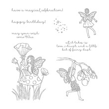 Fairy magical celebration Transparent clear Stamp rubber seal for DIY Scrapbooking/Card Making/ Decoration Supplies(China)