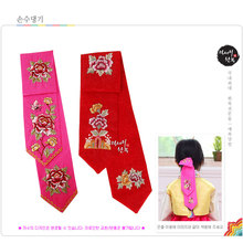 Imported Traditional Korea Hanbok Kids' Hair Band Hair Accessory for Girls Traditional Korean Hair Jewelry Hair Ribbons(China)