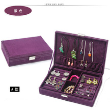 Hot sell Factory sales, high-grade velvet jewelry boxes, ring boxes, loss sale jewel case for gift free shipping
