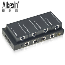 Aikexin 1x4 HDMI Signal Splitter 4 Way Extensor HDMI Extender 60m/196ft with HDCP Compliant Over Cat5e/6 support 1080P and 3D