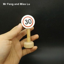 Speed 30 Traffic Signs Mark Early Development and Education Wooden Toy For Children