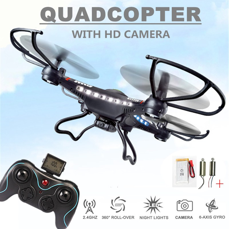 Jjrc H8c Rc Drones Camera Hd Flying Rc Helicopter 4ch Quadcopter Professional Drones Remote Control Toys Kids Hobbies