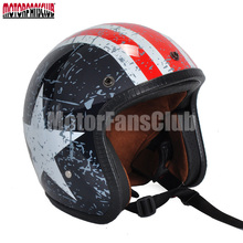 DOT 3/4 Open Face Scooter Helmets Retro Vintage Helmets For Motorcycle Motorbike Cruiser Scooter Cafe Racer M L XL