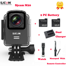 100% Original SJCAM M20 Wifi 30M Waterproof Sports Action Camera Sj Cam DV+2 Battery+Dual Charger+Remote Watch+Remote Monopod