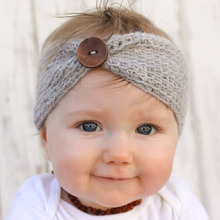 Buy 2017 New Handmade Baby Knitting Crochet Headband Fashion Boys Girls Headbands Ear Warmer Button Children Hair Accessories for $1.12 in AliExpress store