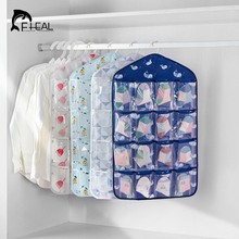 FHEAL 16 Grids Durable Oxford Clear Door Hanging Bag Shoe Rack Hanger Practical Storage Bag Tidy Organizer