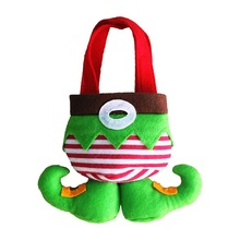 1pc Fancy Santas Pants/Candy Elves Christmas Gift Bag Small Sack Stocking Filler Christmas Decoration Wholesale GYH