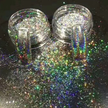 1pcs New Irregular Chameleon Mirror Holographic Powders Nail Glitter Rainbow Galaxy Paillette Laser Flakes Nails Tips TR323