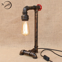 Vintage retro black workroom table lamp modern e27/e26 AC 110V-220V lights sconce for bedroom bedside workshop office bar cafe(China)