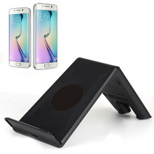mokingtop Universal 10W 5V/1A Fast Charger For Samsung Galaxy S6 / S6 Edge Qi Wireless Charger Charging Dock Black(China)