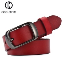 2017 Women's strap casual all-match Women brief genuine leather belt women strap pure color belts Top quality jeans belt WH001(China)