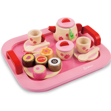 Wooden Artificial Tea Set Cake Bread Afternoon Tea Play House Game Toy Set Children Birthday Gift Educational Toys