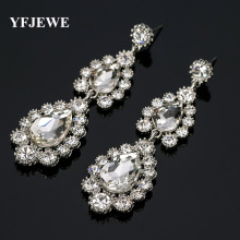 Buy YFJEWE White Crystal Drop Earrings Women Wintage Flower Silver Plated Bride Earrings Wedding Jewelry Accessories #E160 for $1.66 in AliExpress store