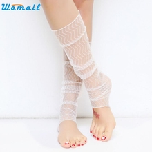 WOMAIL lace stocking Delicate Summer wave style stockings comfortable Stretch fashion Fabric media W25 Apr18