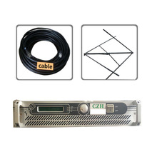 100w 150W FM broadcast transmitter circularly polarlized antenna and 30meters feeder cable kit(China)