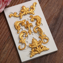 Yueyue Sugarcraft 1 piece Border silicone  mold fondant mold cake decorating tools chocolate gumpaste mold CK-SM-213