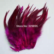 Wholesale Natural 100pcs/lot Rose Color Beautiful Pheasant Neck Feathers 10-15cm/4-6''(China)