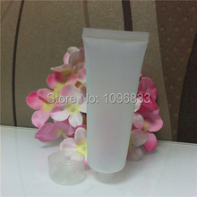 50ML Plastic Tube Bottle Screw Cap Cosmetic Cream Lotion Hand Cream Cleansing Shampoo Shower Gel empty Packing bottle 50pc/Lot
