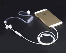 3.5mm Anti Radiation Earphone Air Spring Duct Earhook Stereo Headphone for iPhone 6S Plus Xiaomi Note3 Note2 for LG Smartphones