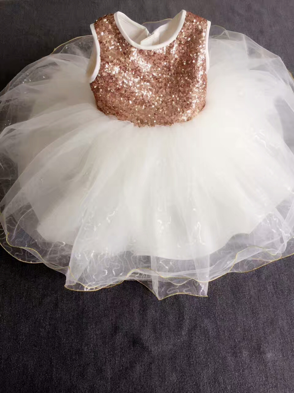 real photo baby girls dress kids Sparkling Girl Dress Sequin Ball Gowns for Birthday Party dress<br>