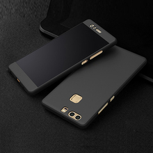 360 Degree Full Coverage For Huawei P9 P9 Plus Cover Protect Phone Housing case Accessories With Glass Film For Huawei P9 Plus