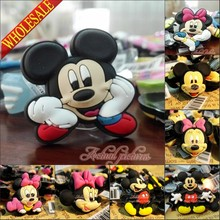 1pcs Mickey Minnie High Imitation PVC Shoe Charms,Shoe Buckles Accessories Fit Bands Bracelets Croc JIBZ,Kids Party favors/Gifts(China)