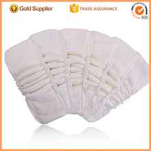 Babyland Good Quality 12 pieces Cotton Bamboo Inserts with double gussets for Bamboo Cloth Diapers(China)