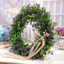 Buy Artificial Plant Flowers Wreaths Garland Wedding Door Wreath DIY Wall Car Decoration Fake Decorative Plants Flower 3 Color for $21.42 in AliExpress store