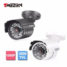 Tmezon AHD 3000TVL 2.0MP 1080P Camera Bullet Metal Home Security Surveillance CCTV Outdoor IR Night Vision 24Led Up to 20m/65ft(China)