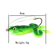 8pcs/lot 6cm/5g Frog Soft Bait Fishing Lures Soft Frog Fishing lures Plastic Fish with Hook 2 Colors