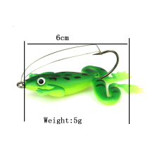 8pcs/lot 6cm/5g Frog Soft Bait Fishing Lures Soft Frog Fishing lures Plastic Fish with Hook 2 Colors(China)
